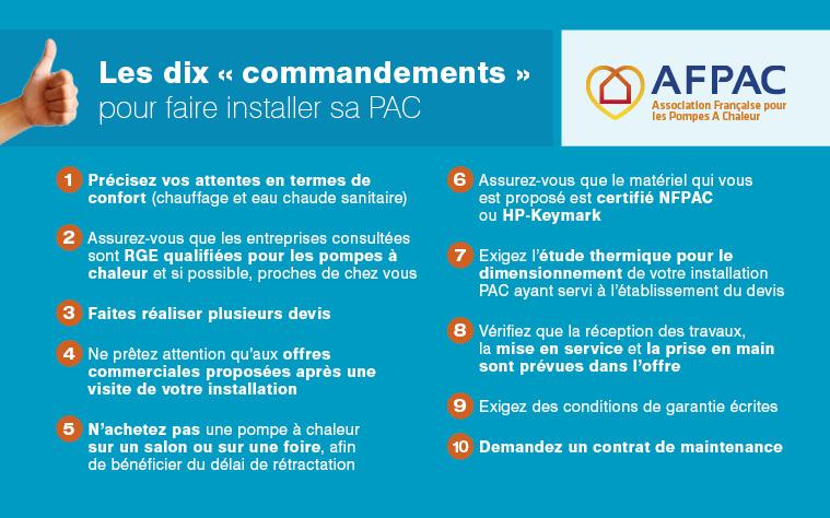 Règle N°6 : Assurez-vous que le matériel qui vous est proposé est certifié NFPAC ou HP-Keymark - afpac.org