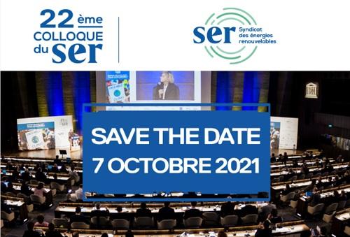 Colloque annuel du Syndicat des énergies renouvelables - 7 octobre 2021