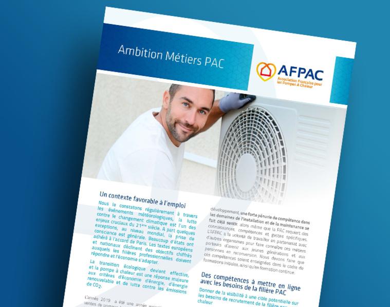 La Fiche Ambition Métiers PAC de l'AFPAC