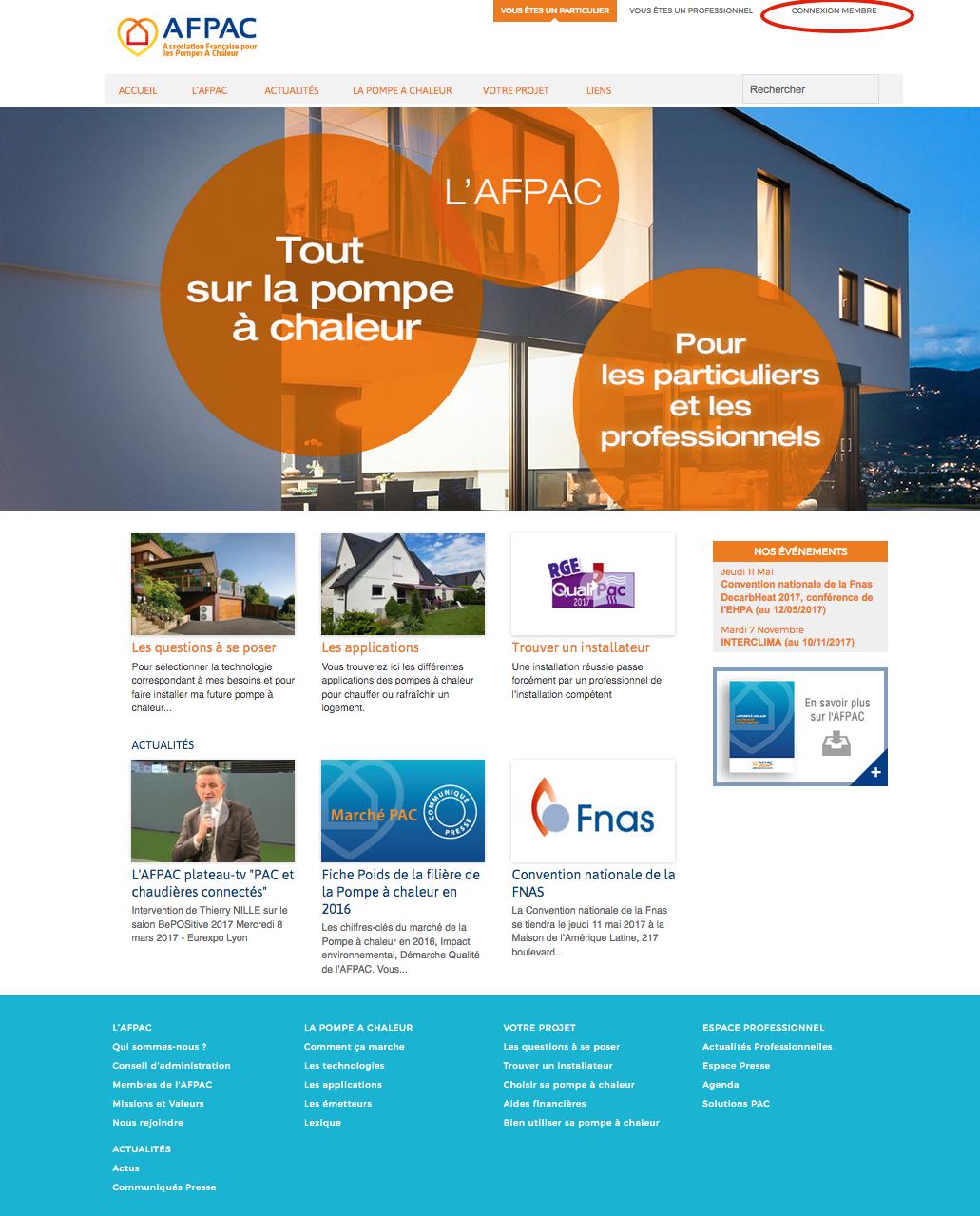 Bienvenue sur le nouveau site internet de l'AFPAC