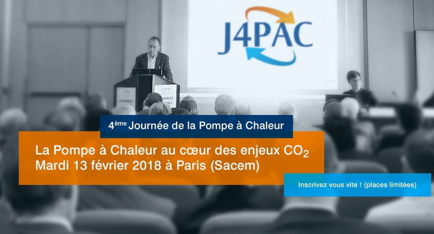 Inscrivez-vous à la Journée de la Pompe à Chaleur J4PAC : « La Pompe à Chaleur au cœur des enjeux CO2»
