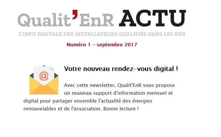 Qualit'EnR lance son nouveau rendez-vous digital à l'attention des Installateurs qualifiés dans les EnR
