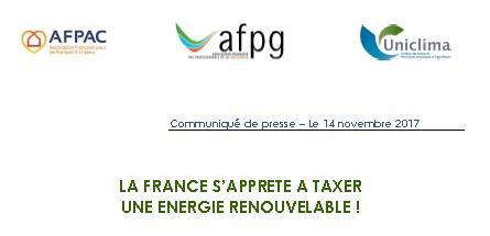 La France s'apprête à taxer une énergie renouvelable !