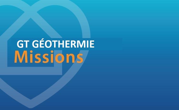 GT Géothermie : missions