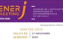 SAVE THE DATE - ENERJ-MEETING LYON Palais de la Bourse - 17 novembre 2020