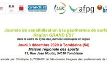De l'AFPG : Journée de sensibilisation à la géothermie de surface Région GRAND EST