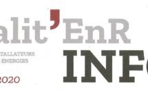 Vu dans le « Tour d'horizon de Qualit'EnR INFOS » du mois de septembre 2020